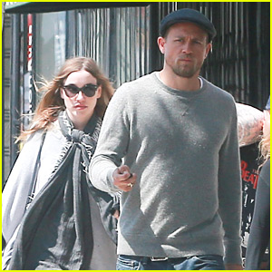 Charlie Hunnam Does Shopping & Breakfast with Girlfriend Morgana McNelis & Family
