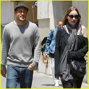 Charlie Hunnam Smiles Away During Outing with Girlfriend Morgana McNelis