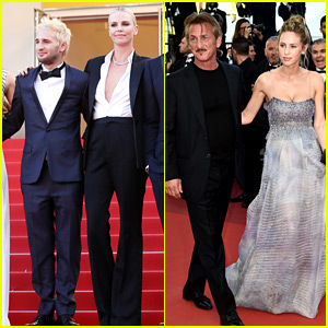 Charlize Theron Reunites with Sean Penn & His Kids in Cannes