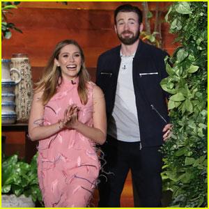 Chris Evans & Elizabeth Olsen Laugh Off Dating Rumors (Video)