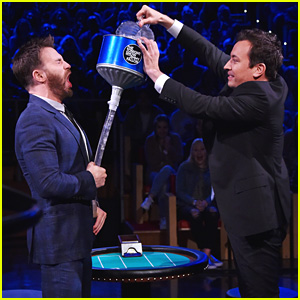 Chris Evans Gets an Ice Bath in His Pants on 'Tonight Show' - Watch Now!