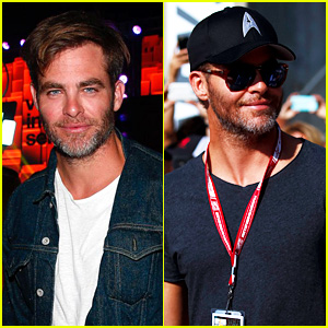 Chris Pine & Others Celebrate the Indianapolis 500!