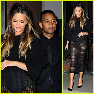 Chrissy Teigen Wears Totally Sheer Skirt One Month After Giving Birth
