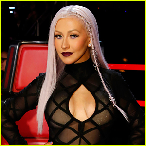 Christina Aguilera Rocks Purple Pierced Hair on 'The Voice'