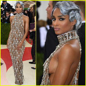 Ciara Shows Off Silver Hair at Met Gala 2016