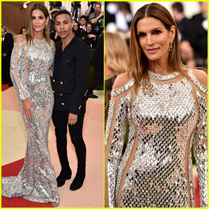 Cindy Crawford Joins the Balmain Army at Met Gala 2016