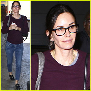 Courteney Cox Is Back Home After Spending Time in London