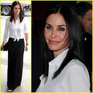 Courteney Cox Supports Johnny McDaid at Ivor Novello Awards 2016