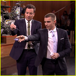 Dave Franco Teaches Jimmy Fallon Card Throwing - Watch!
