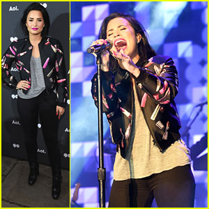 Demi Lovato Delivers Amazing Performance at AOL NewFronts 2016