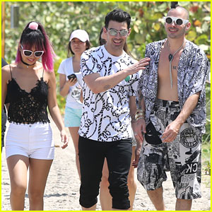 DNCE Hits Miami For Volleyball Tournament at iHeart Pool Party