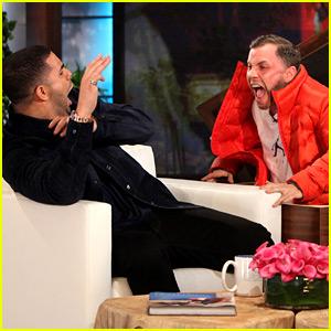 Drake Gets Scared in Epic Prank on Ellen DeGeneres' Show!