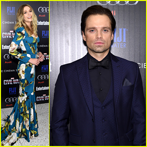 Elizabeth Olsen Joins Sebastian Stan for 'Captain America' Screening