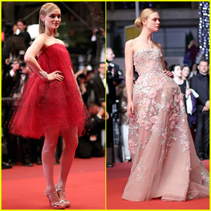 Bella Heathcote & Elle Fanning Put A Spell on Cannes At 'Neon Demon' Premiere