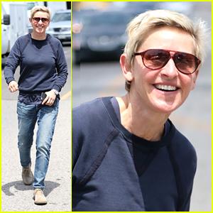 Ellen DeGeneres Shows Off Her Contagious Smile