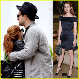 Emma Roberts Embraces a Mystery Man in London
