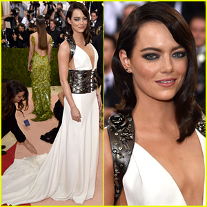 Emma Stone Is Prada Perfect at Met Gala 2016