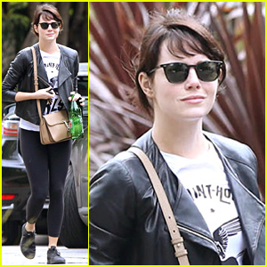 Emma Stone Runs Some Errands on Mother's Day Weekend