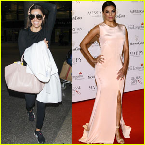 Eva Longoria Returns to L.A. After Global Gift Gala in Cannes