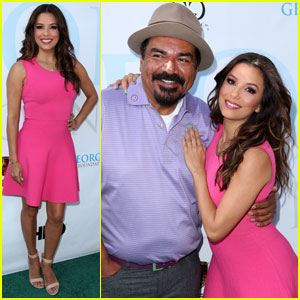 Eva Longoria is Pretty in Hot Pink for George Lopez Golf Classic