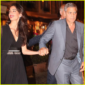 George Clooney & Amal Couple Up for Romantic Dinner in Italy