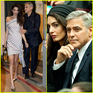 George & Amal Clooney Meet Pope Francis at the Vatican