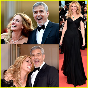 Julia Roberts & George Clooney Have the Best Time at 'Money Monster' Cannes 2016 Premiere