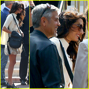George Clooney & Wife Amal Arrive for Cannes Film Festival