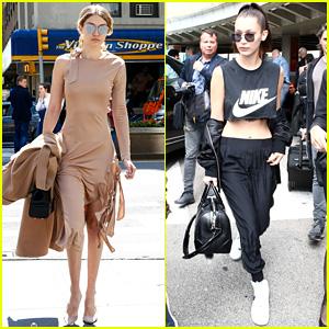 5eacc26f5d Gigi Hadid Wears a Fierce Dress in NYC While Bella Flies to France
