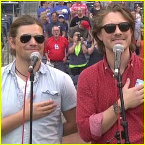 Hanson Sings National Anthem in Three Part Harmony! (Video)