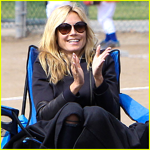 Heidi Klum Cheers On Son Henry at Pre-Mother's Day Game