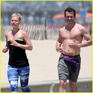 Hugh Dancy Goes Shirtless for Beachside Jog with Claire Danes