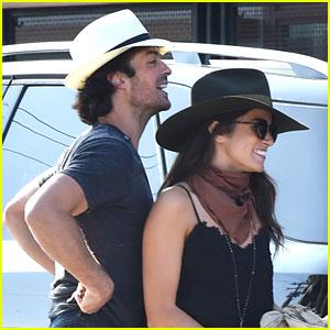 Nikki Reed & Ian Somerhalder Grab Mexican Lunch with Friend in LA