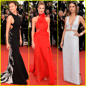 Irina Shayk & Rosie Huntington-Whiteley Go Glam for Cannes 2016 Premiere!