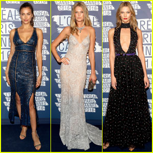 Irina Shayk & Toni Garrn Are Blue Beauties for L'Oreal Paris