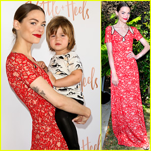 Jaime King Brings Son James Knight to Bottle + Heels Party