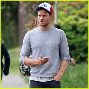 Jamie Dornan Takes a Casual Break from 'Fifty Shades' Filming