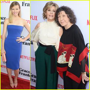 Jane Fonda & Lily Tomlin Team Up At 'Grace & Frankie' Season 2 Premiere - Watch Trailer!