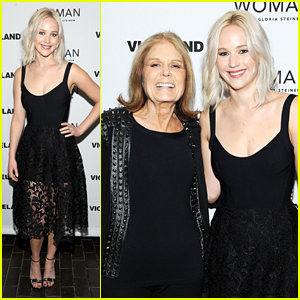 Jennifer Lawrence Joins Gloria Steinem for 'Woman' Screening