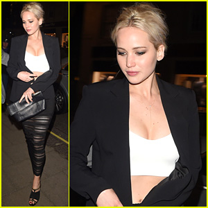 Jennifer Lawrence Shows Some Skin While Dining Out in London