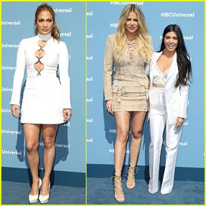 Jennifer Lopez & Kardashian Sisters Glam Up for NBCU Upfront Presentation!