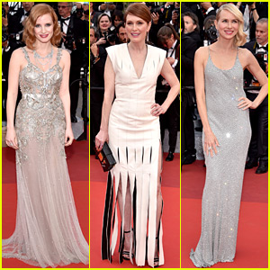 Jessica Chastain, Julianne Moore, & Naomi Watts Stun on Cannes Red Carpet for 'Money Monster'