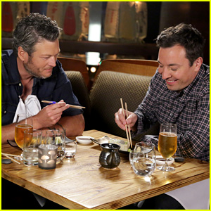 Jimmy Fallon Makes Blake Shelton Eat Sushi for First Time & It's So Funny - Watch Now!