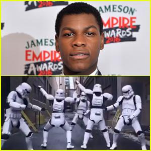 John Boyega Celebrates 'Star Wars Day' with Funny Storm Trooper Video!
