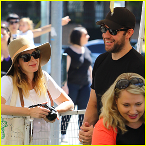 Emily Blunt & John Krasinski Have Family Day at Farmer's Market