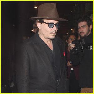 Johnny Depp Surprises Fans as the Mad Hatter at Disneyland