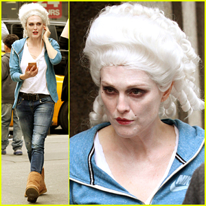Julianne Moore Wears a Marie Antoinette-Style Wig on Set!
