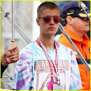 Justin Bieber Celebrates With Lewis Hamilton at Formula One Grand Prix 2016 in Monaco