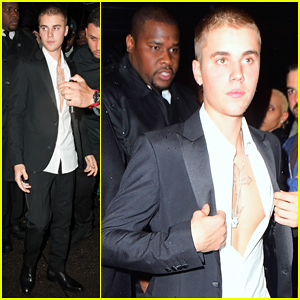 Justin Bieber Shows Off Chest At Met Gala 2016 After Party!