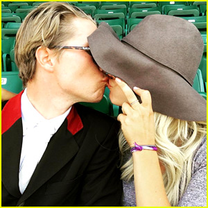 Kaley Cuoco Kisses Boyfriend Karl Cook for Everyone to See